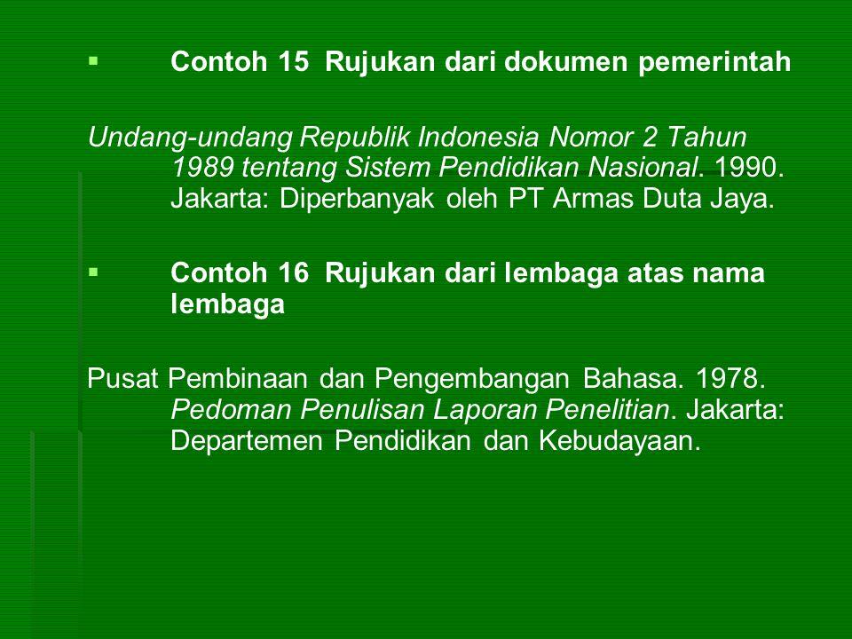 Contoh 15 Rujukan dari dokumen pemerintah