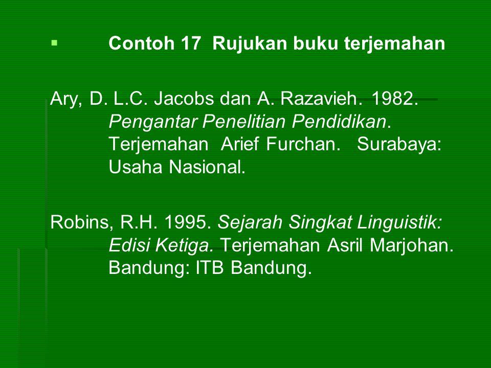 Contoh 17 Rujukan buku terjemahan