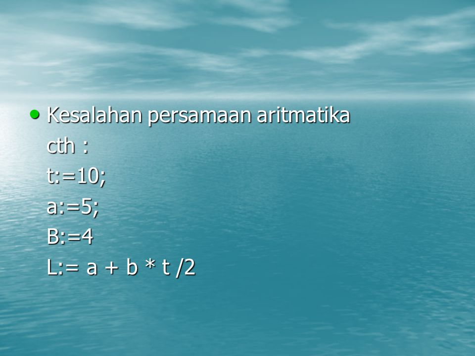 Kesalahan persamaan aritmatika