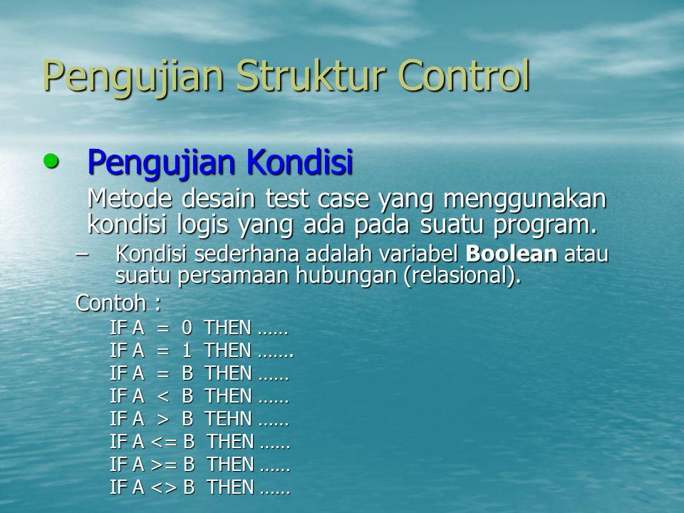 Pengujian Struktur Control
