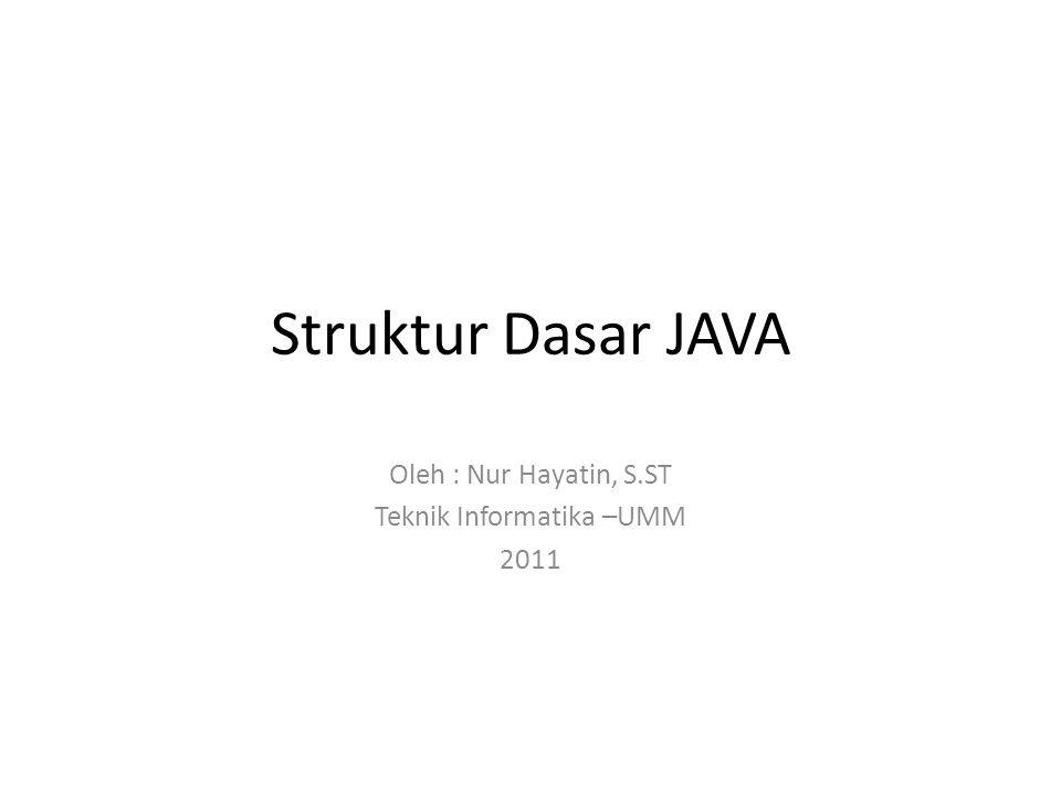 Oleh : Nur Hayatin, S.ST Teknik Informatika –UMM 2011