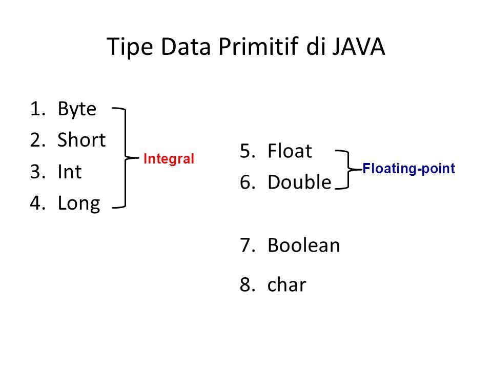Tipe Data Primitif di JAVA