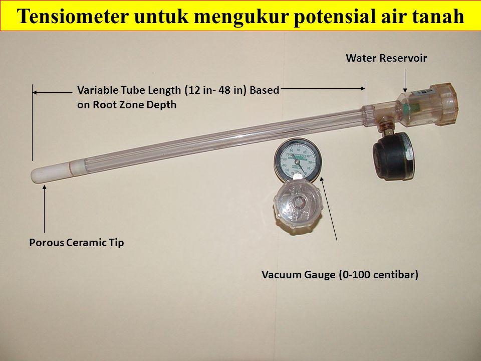 Tensiometer untuk mengukur potensial air tanah
