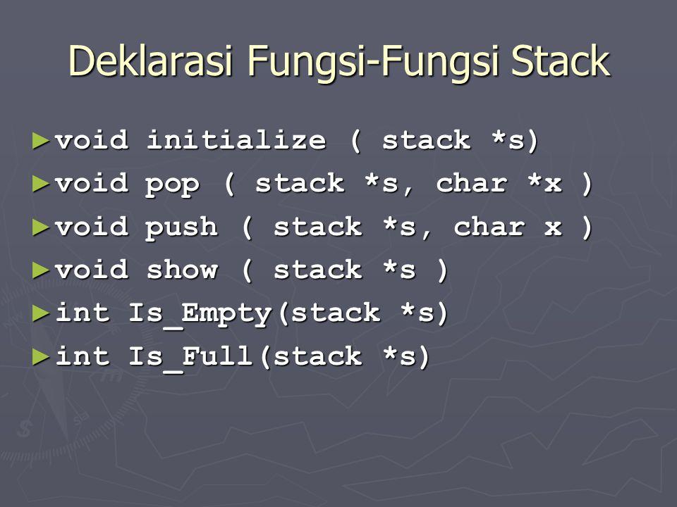 Deklarasi Fungsi-Fungsi Stack