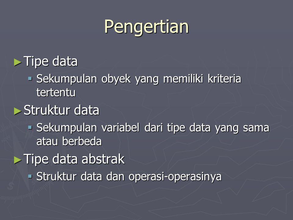 Pengertian Tipe data Struktur data Tipe data abstrak