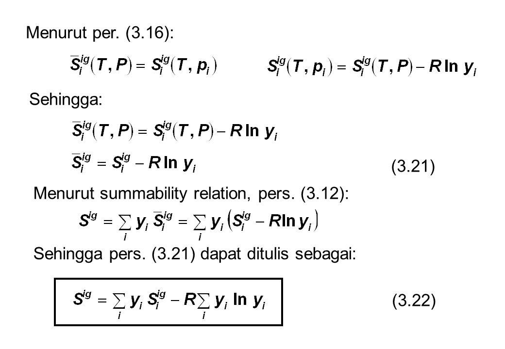 Menurut per. (3.16): Sehingga: (3.21) Menurut summability relation, pers. (3.12): Sehingga pers. (3.21) dapat ditulis sebagai: