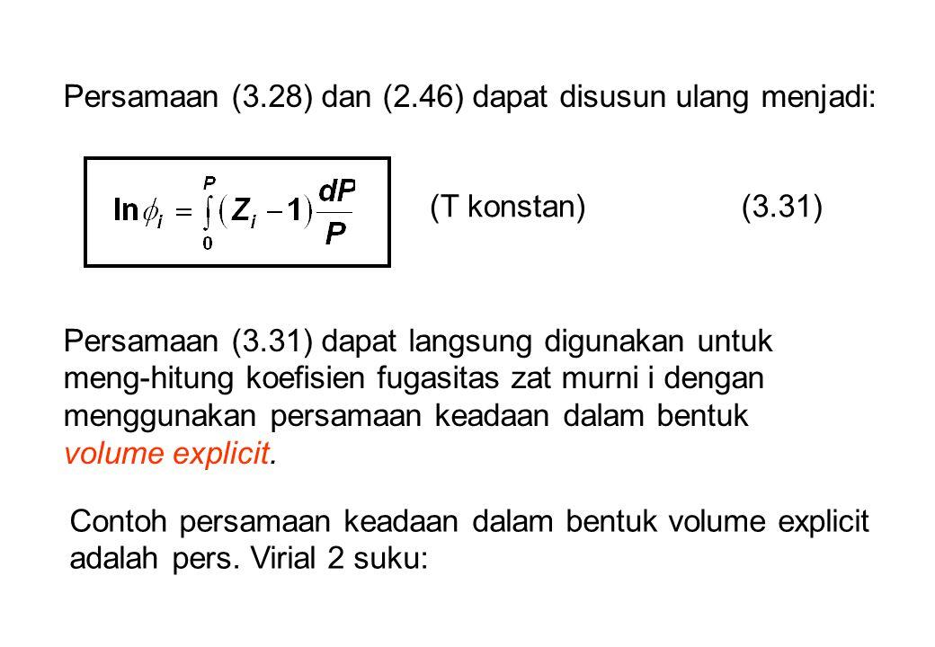 Persamaan (3.28) dan (2.46) dapat disusun ulang menjadi: