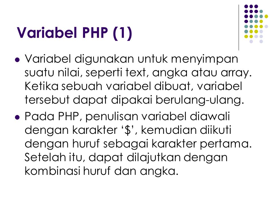 Variabel PHP (1)