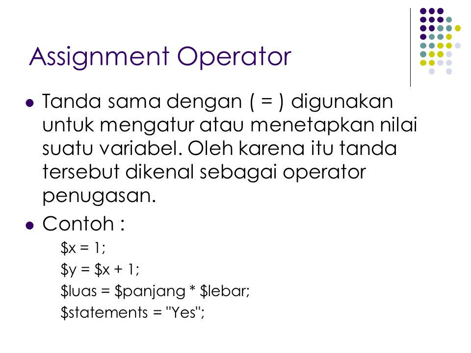 Assignment Operator