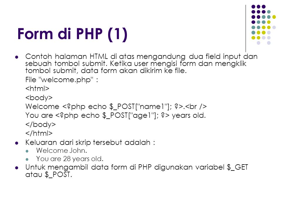 Form di PHP (1)
