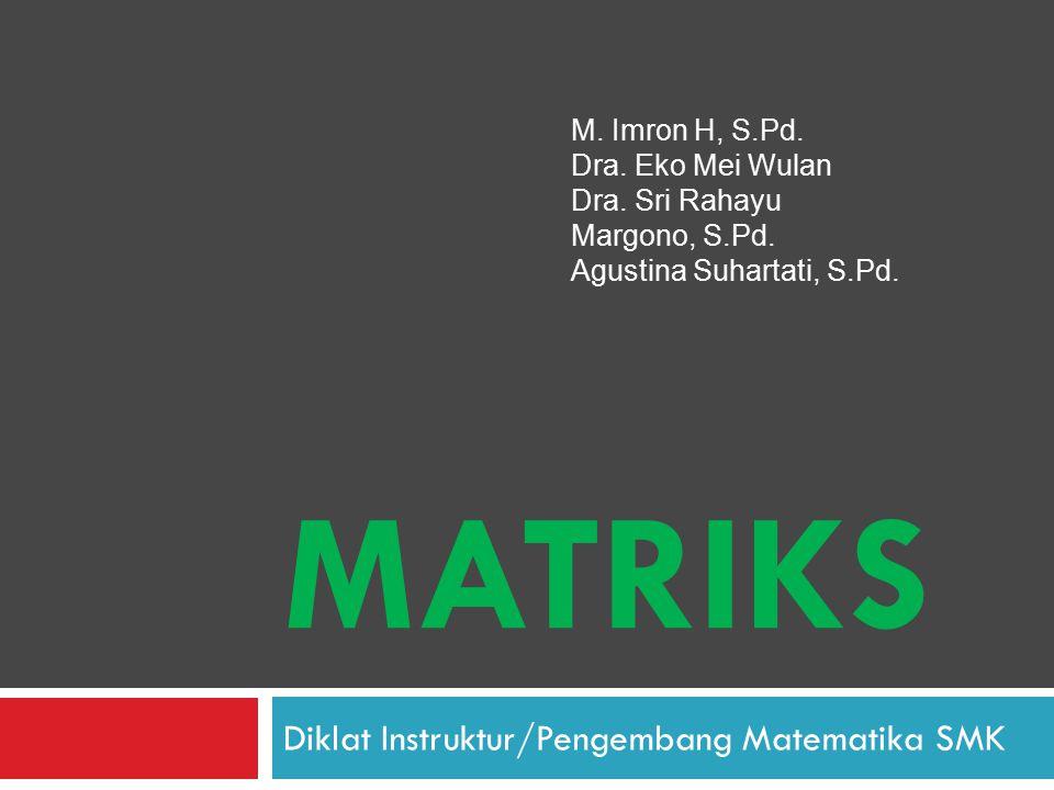 Diklat Instruktur/Pengembang Matematika SMK