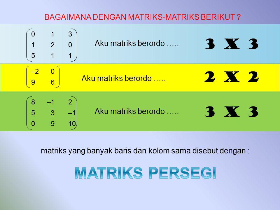 matriks yang banyak baris dan kolom sama disebut dengan :
