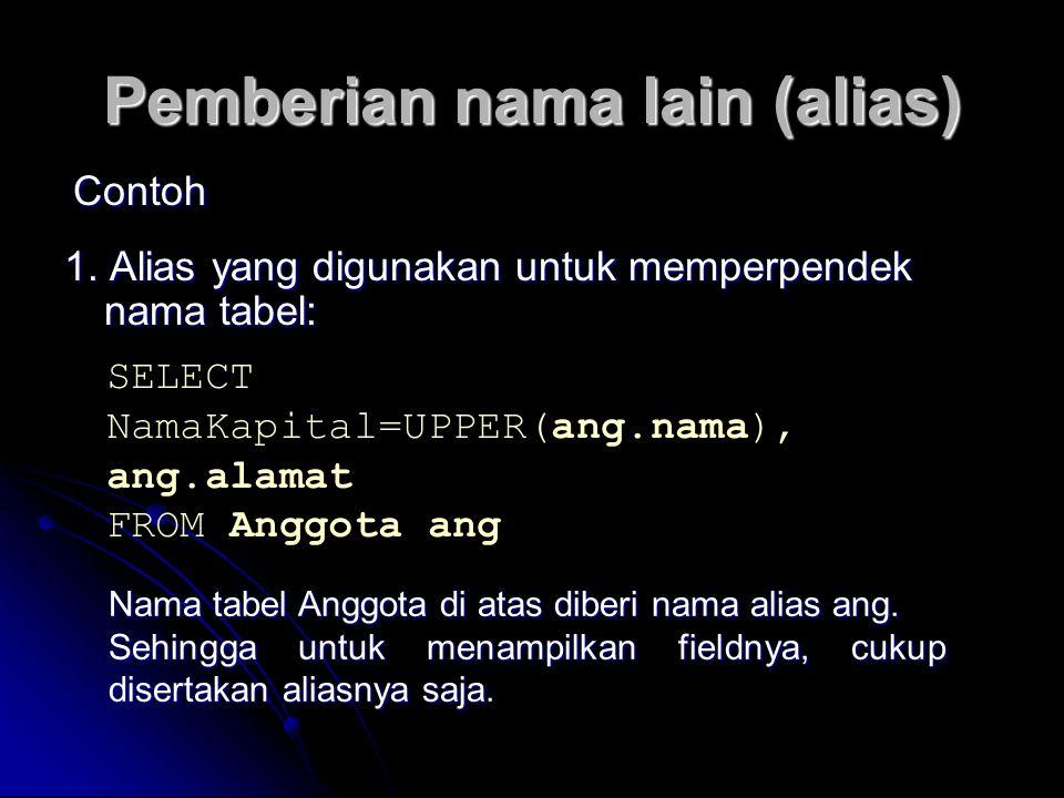 Pemberian nama lain (alias)