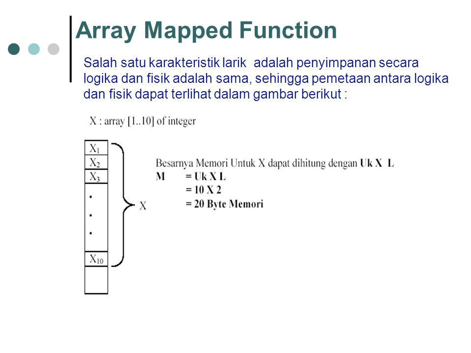 Array Mapped Function