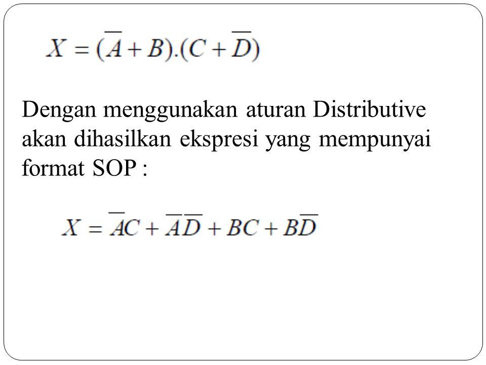 Dengan menggunakan aturan Distributive