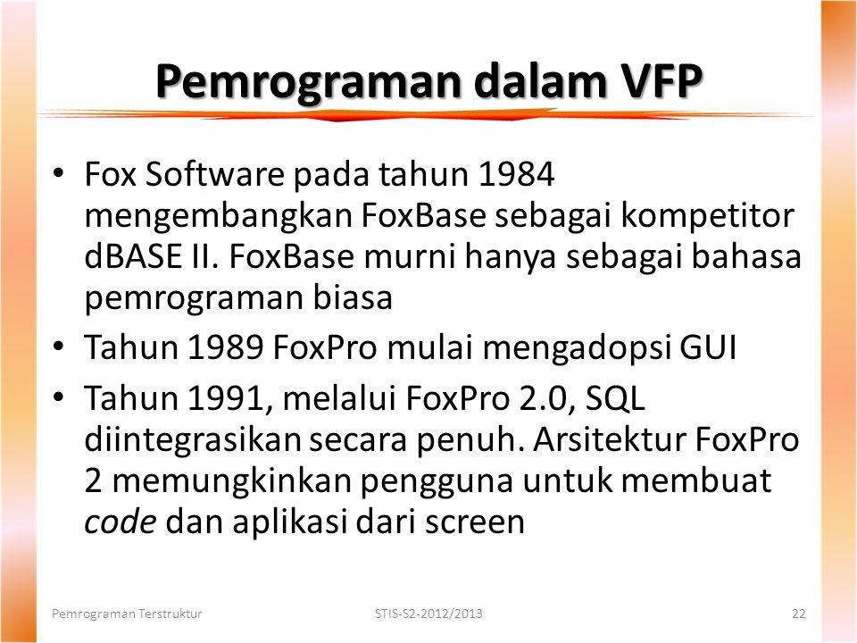 Pemrograman dalam VFP