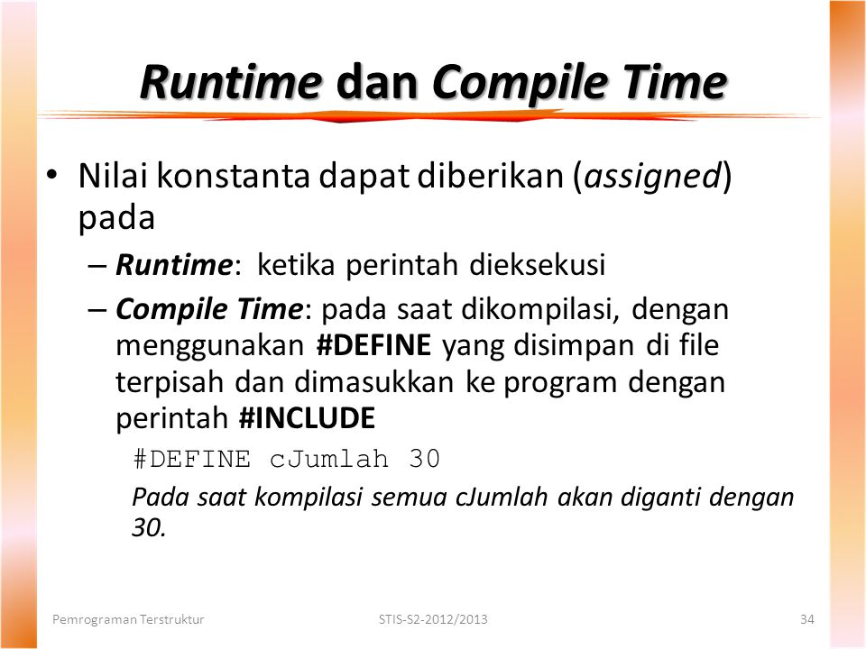 Runtime dan Compile Time