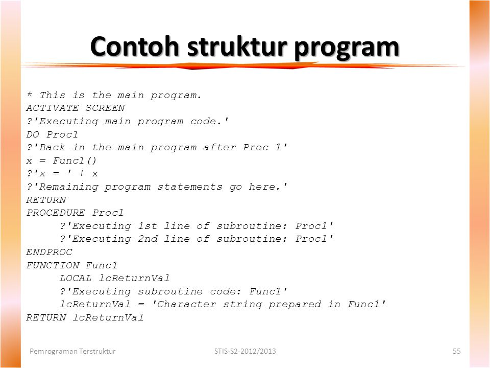 Contoh struktur program