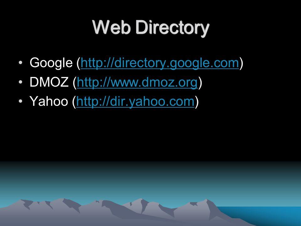 Web Directory Google (http://directory.google.com)