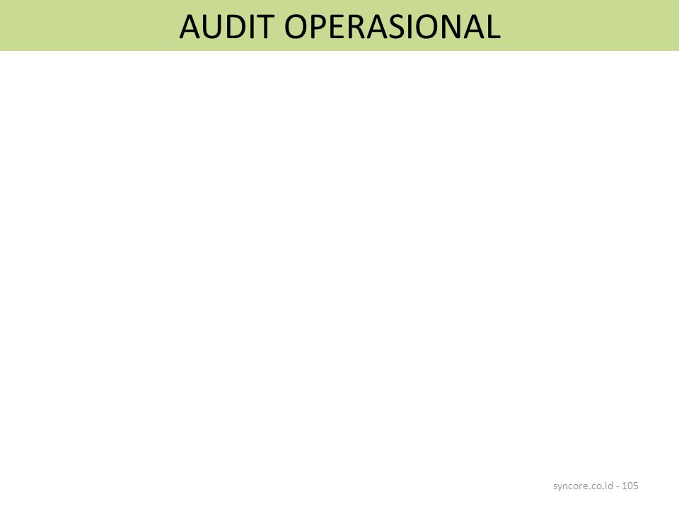 AUDIT OPERASIONAL