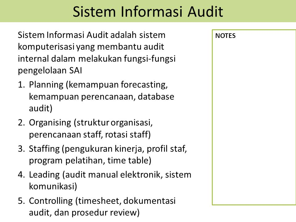 Sistem Informasi Audit