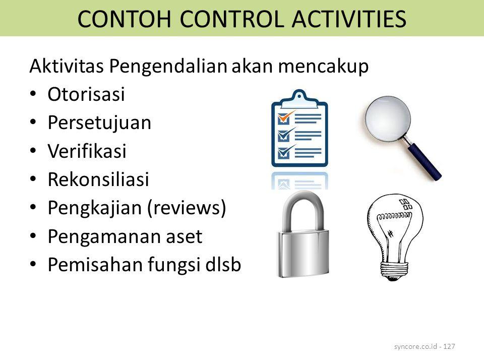 CONTOH CONTROL ACTIVITIES