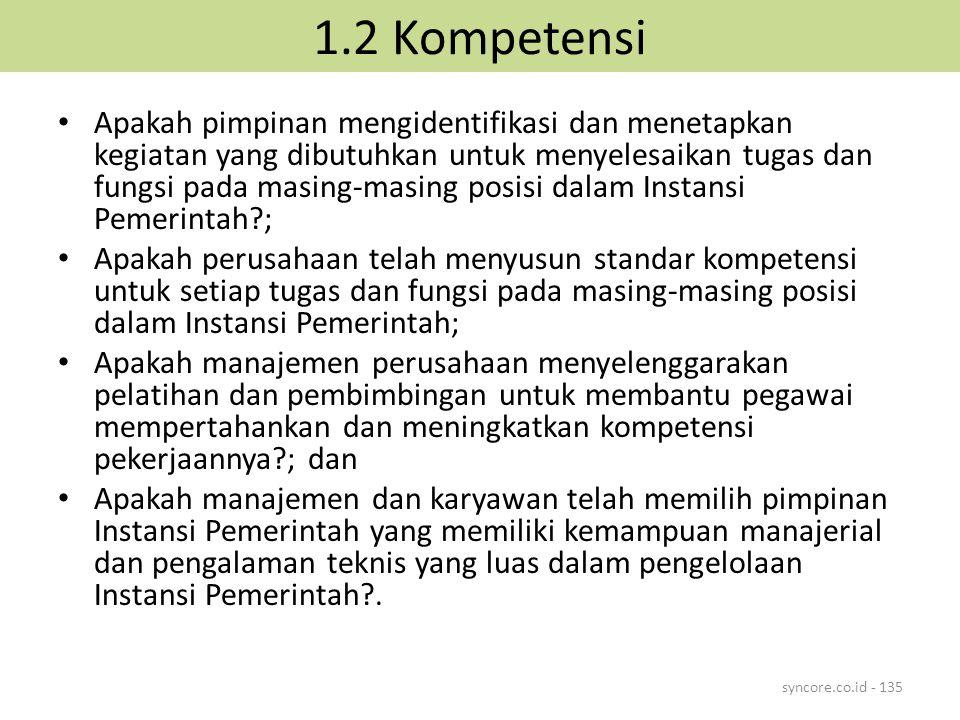 1.2 Kompetensi