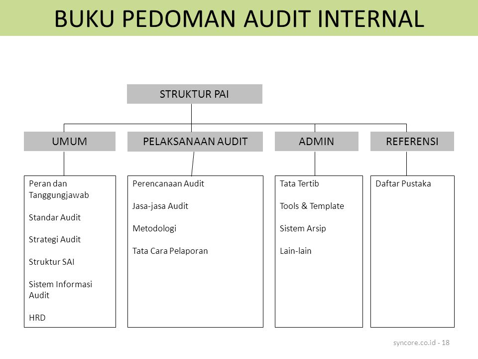 BUKU PEDOMAN AUDIT INTERNAL