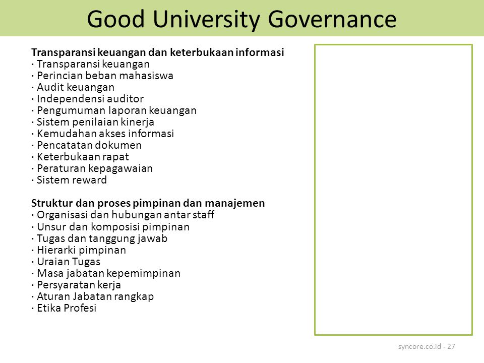 Good University Governance