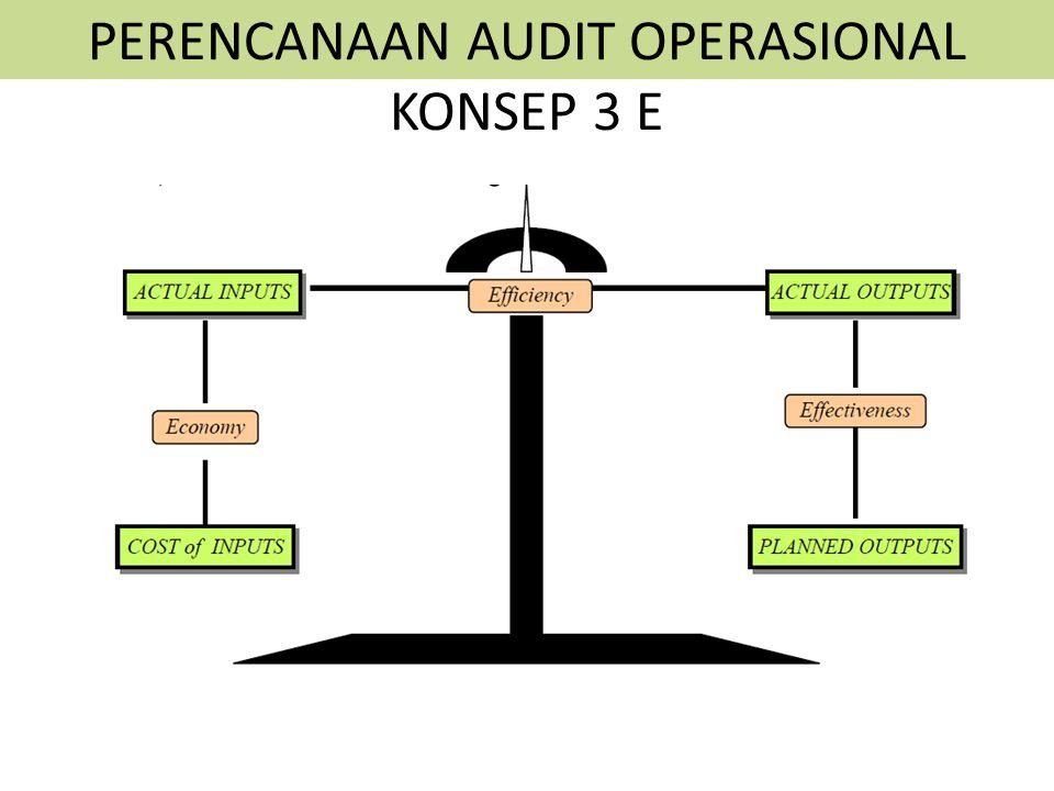PERENCANAAN AUDIT OPERASIONAL KONSEP 3 E