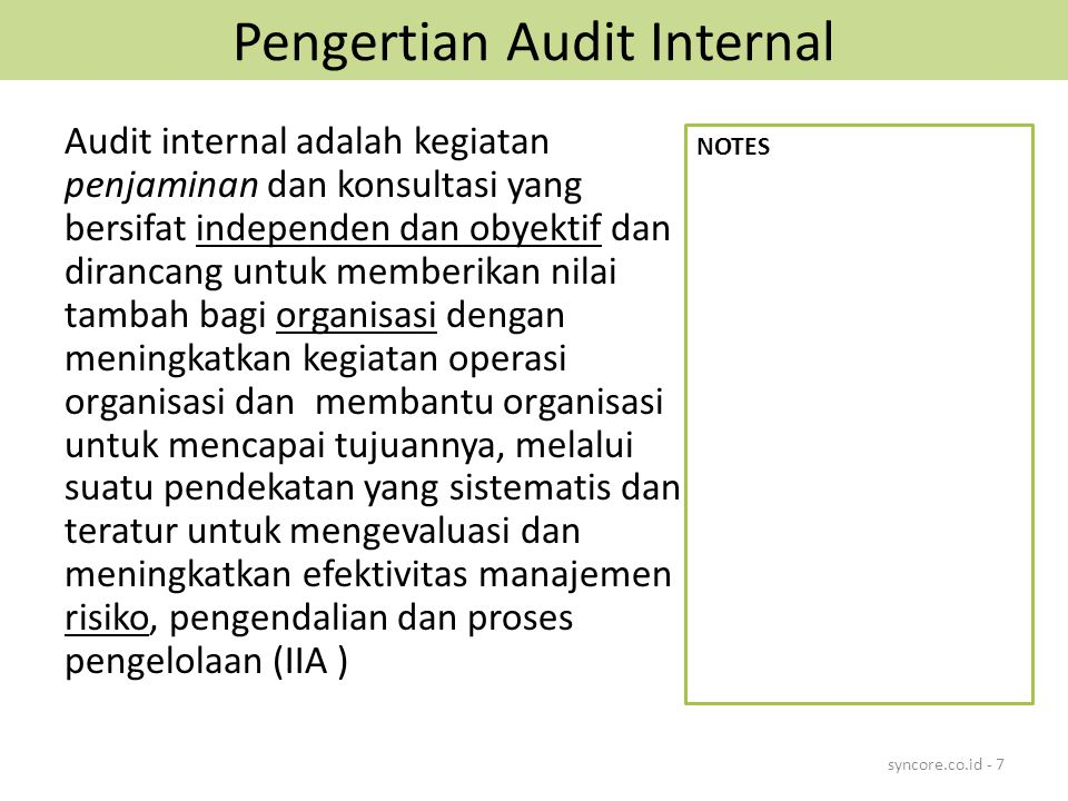 Pengertian Audit Internal