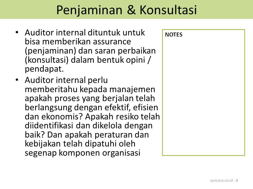 Penjaminan & Konsultasi
