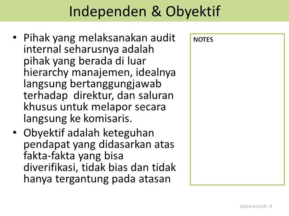 Independen & Obyektif