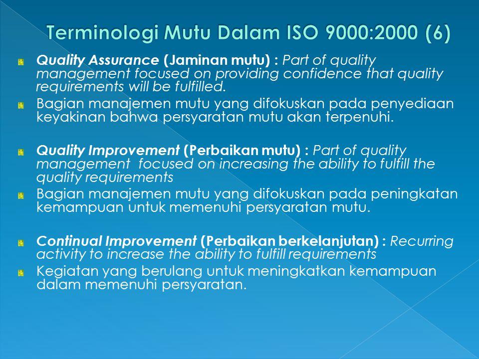 Terminologi Mutu Dalam ISO 9000:2000 (6)