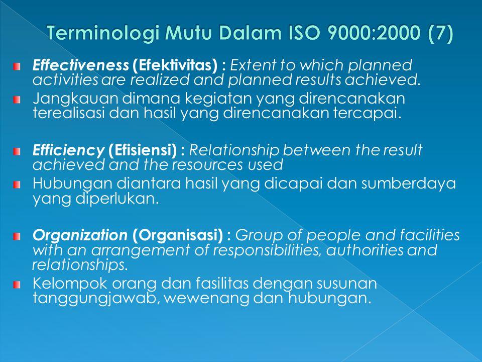 Terminologi Mutu Dalam ISO 9000:2000 (7)