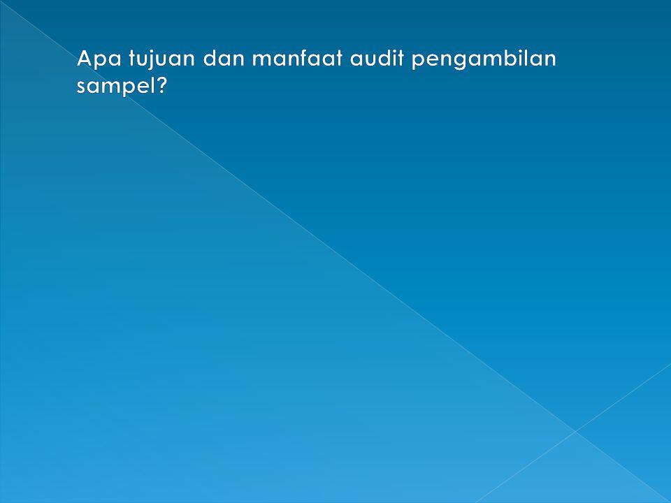 Apa tujuan dan manfaat audit pengambilan sampel