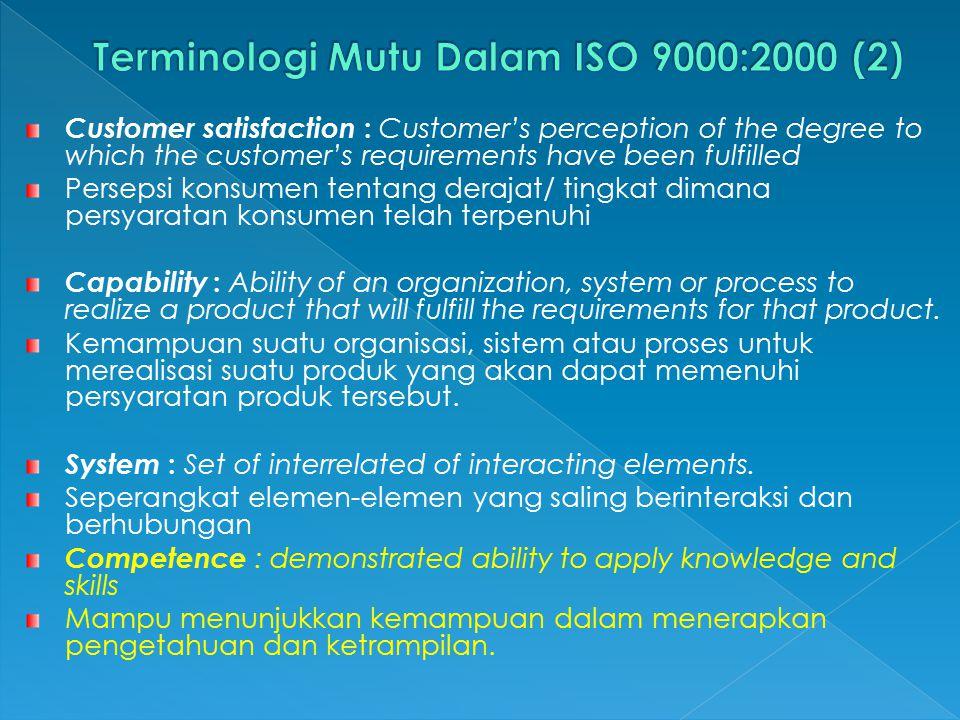 Terminologi Mutu Dalam ISO 9000:2000 (2)
