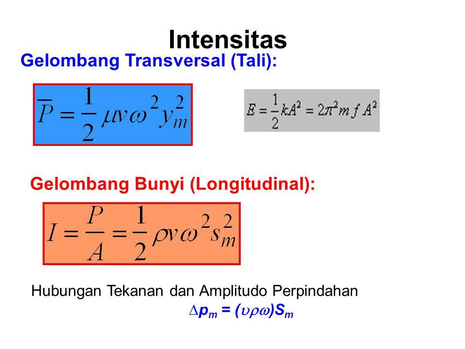 Intensitas Gelombang Transversal (Tali):