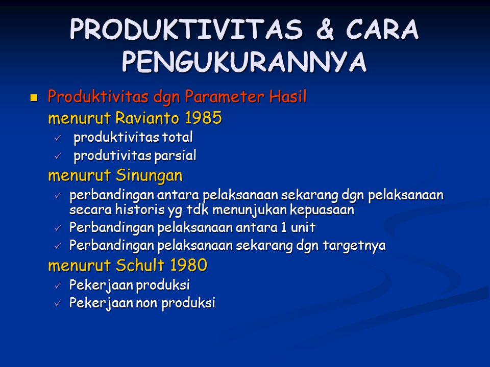 PRODUKTIVITAS & CARA PENGUKURANNYA