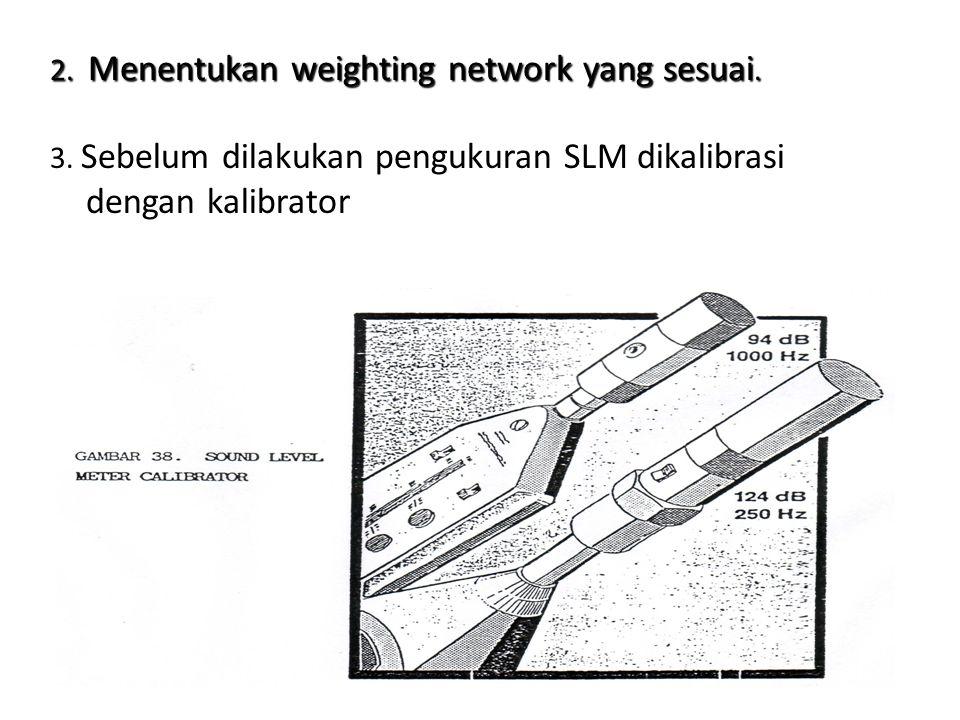 2. Menentukan weighting network yang sesuai.