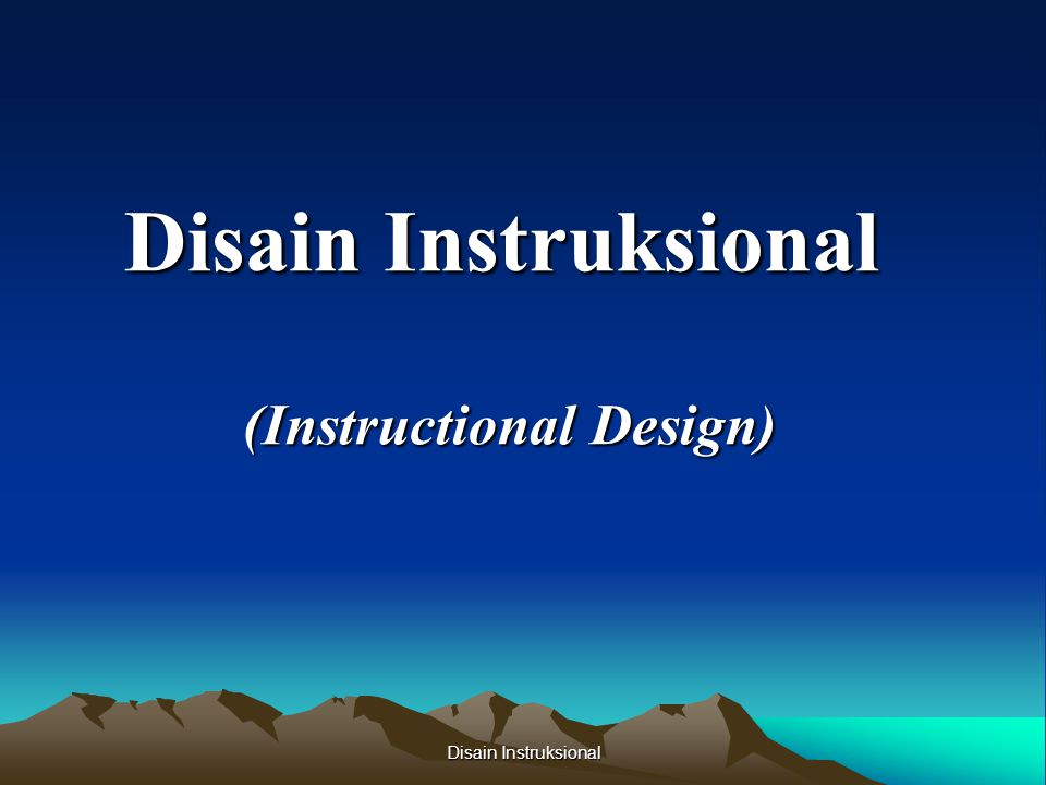 (Instructional Design)