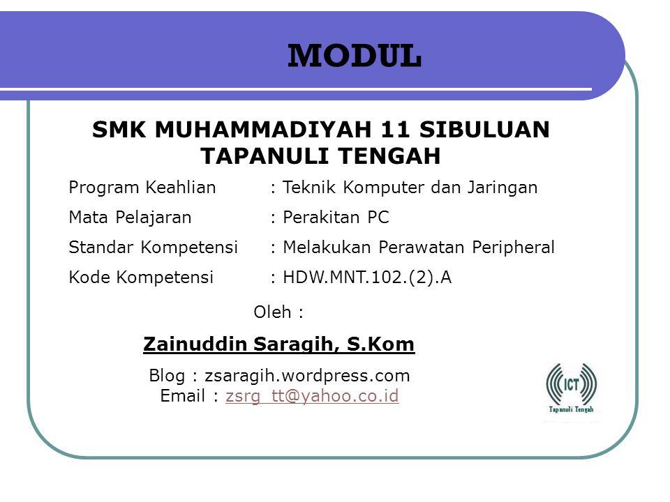SMK MUHAMMADIYAH 11 SIBULUAN TAPANULI TENGAH Zainuddin Saragih, S.Kom