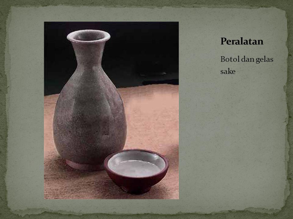 Peralatan Botol dan gelas sake