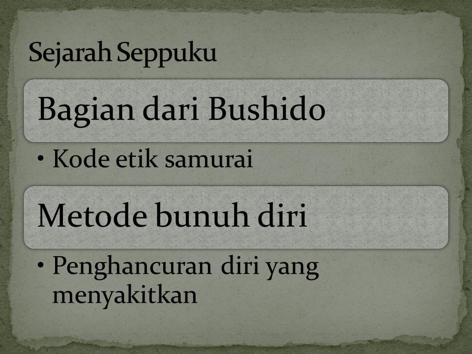 Bagian dari Bushido Metode bunuh diri Sejarah Seppuku