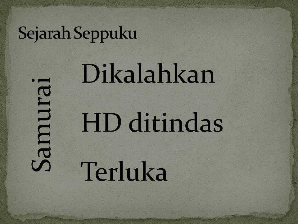 Sejarah Seppuku Samurai Dikalahkan HD ditindas Terluka
