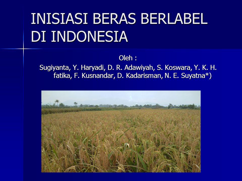 INISIASI BERAS BERLABEL DI INDONESIA