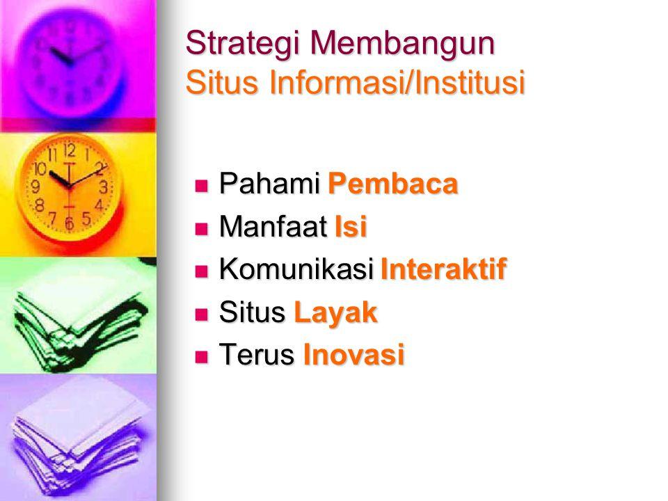 Strategi Membangun Situs Informasi/Institusi