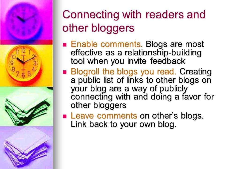 Connecting with readers and other bloggers