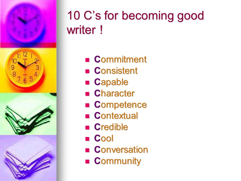 10 C's for becoming good writer !