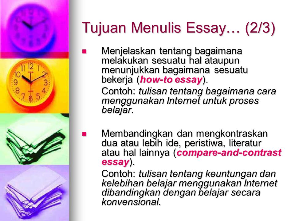 Tujuan Menulis Essay… (2/3)